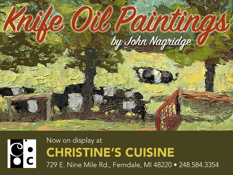 See my paintings and enjoy a great meal in Ferndale